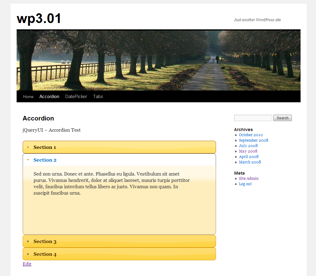 jQuery UI Widgets on Blog Pages | Press Coders