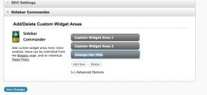 Create custom widget areas