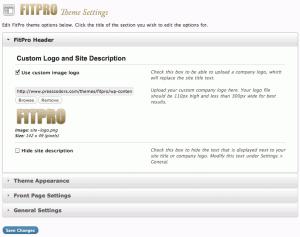 FitPro Header Settings