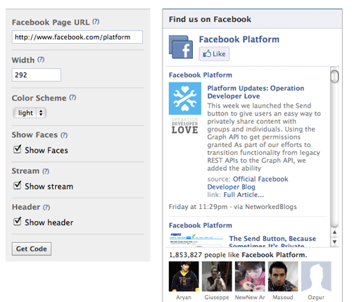 how to add facebook like button to email