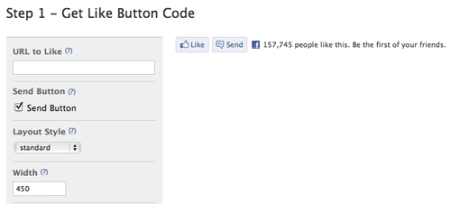 Facebook Like Button URL