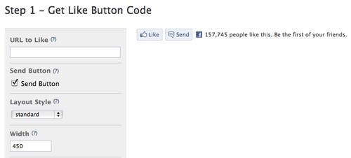 Facebook Like Button URL