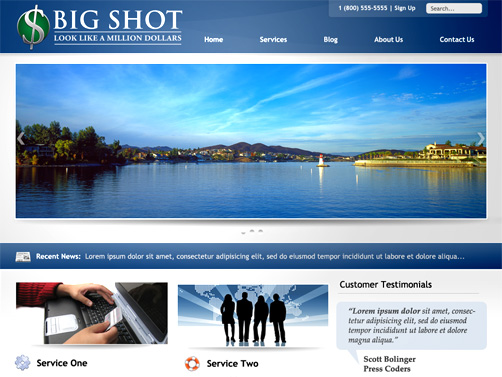 Big Shot WordPress Business Theme