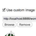 Custom Image Theme Option