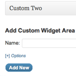 Add Custom Widget Areas