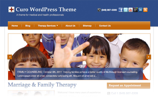 Curo WordPress Theme for Medical Professionals