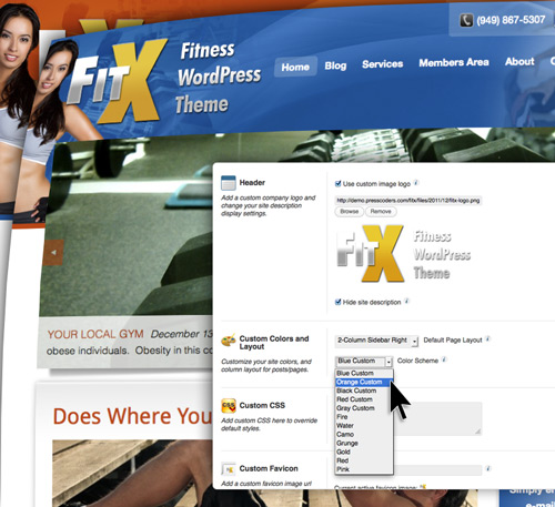 FitX Color Customization