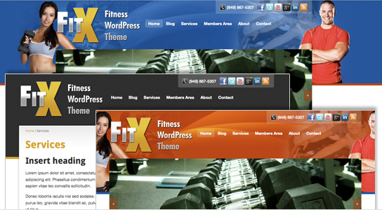 FitX Gym WordPress Theme