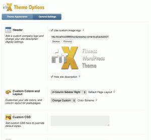 FitX Theme Options