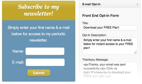 CoachPro Email Opt-in Widget