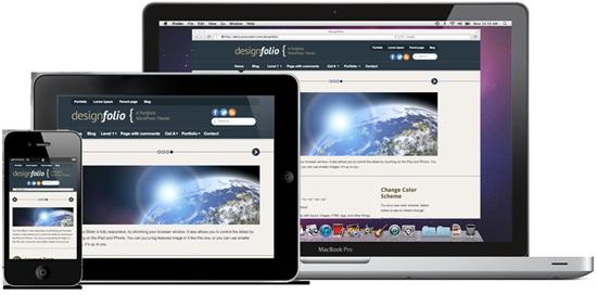 Designfolio Responsive Free WordPress Portfolio Theme