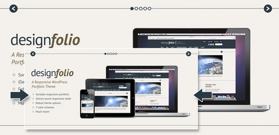 Designfolio: A free responsive portfolio WordPress theme for