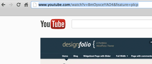 WordPress YouTube embed