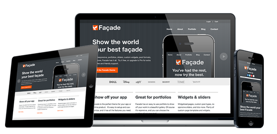 Facade Responsive WordPress Theme